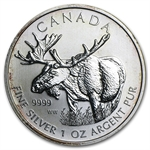 2012 1 oz Silver Canadian Wildlife Series - Moose - Spotted