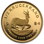 1984 1/2 oz Proof Gold South Africa Krugerrand