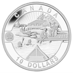 2013 1/2 oz Silver Canadian $10 Summer Fun! (W/Box & COA)