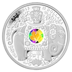 2013 1 oz Silver Canadian $15 - Maple of Peace Hologram