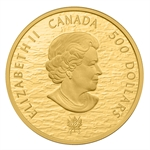 2013 5 oz Gold Canadian $500 - HMS Shannon & USS Chesapeake