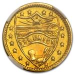 1914 Indian Round Quarter Dollar Oregon Gold MS-64 NGC