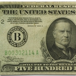 1934-A (B-New York) $500 Federal Reserve Note (Very Fine+)