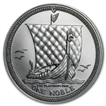 1983 1 oz Isle of Man Platinum Noble (Scruffy)