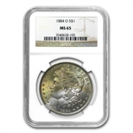 1878-1904 Morgan Dollars - MS-65 NGC - Beautifully Toned