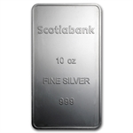 10 oz Scotiabank Silver Bar .999 Fine