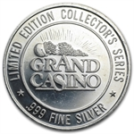 Grand Casino Gaming Token 1.5 oz .999 silver