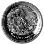 2012 1 oz Silver Year of the Dragon High Relief Proof PCGS PR-70