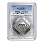 2013 1 oz Australian Silver Kangaroo Road Sign MS-70