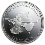 2001 1 oz Silver Proof Australian Kookaburra - Spotty