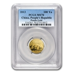 2013 (1/4 oz) Gold Chinese Panda - MS-70 PCGS