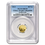 2013 (1/10 oz) Gold Chinese Panda - MS-70 PCGS