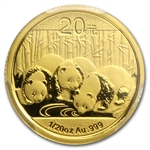 2013 (1/20 oz) Gold Chinese Panda - MS-70 PCGS