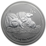 2008 2oz Silver Australian Year of the Mouse Coin (SII) NGC MS-69