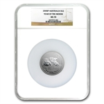 2008 2oz Silver Australian Year of the Mouse Coin (SII) NGC MS-70