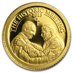 Palau 2013 Gold $1 The Historic Meeting - Two Popes
