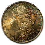 1899-O Morgan Dollar MS-65 PCGS - Blue and Plum Obverse - CAC