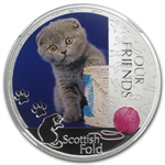 2012 1 oz Silver Niue Kitten Collection Scottish Fold PF-69 NGC