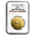 1993 1 oz Australian Gold Nugget NGC MS-68