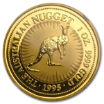1995 1 oz Australian Gold Nugget NGC MS-65