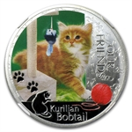 2012 1 oz Silver Niue Kitten Collection Kurlian Bobtail PF70 NGC