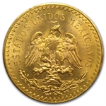 Mexico 1931 50 Peso Gold Coin MS-63 PCGS