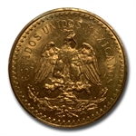 Mexico 1928 50 Peso Gold Coin PCGS MS-63 (Secure Plus!)