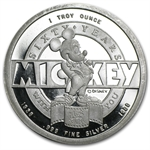1 oz Proof Silver Round - Mickey Mouse 60 Years .999 Fine