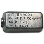 Bitter Root Nugget Exchange Silver Ingot Bar .999 Fine (49.90 oz)