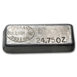 Spokane Bullion Inc Silver Ingot Bar .999 Fine (24.75 oz)