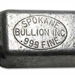 Spokane Bullion Inc Silver Ingot Bar .999 Fine (24.85 oz)