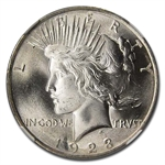 1923 Peace Dollar MS-66 NGC - CAC