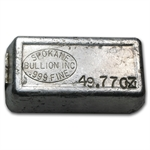 Spokane Bullion Inc Silver Ingot Bar .999 Fine (49.77 oz)