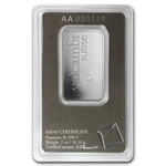 1 oz Valcambi Suisse Platinum Bar (In Assay) .999+ Fine