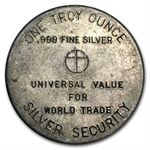 Silver Security .999 Fine 1 oz Silver Round