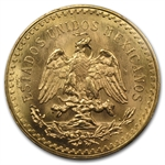 Mexico 1945 50 Pesos Gold Coin MS-64+ PCGS