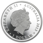2013 The Land Down Under - Captain James Cook 1 oz Silver Proof
