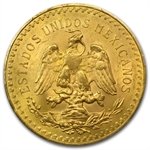Mexico 1927 50 Pesos Gold Coin - MS-64+ PCGS
