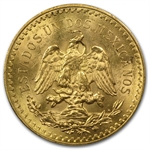 Mexico 1929 50 Pesos Gold Coin - MS-63+ PCGS