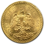 Mexico 1921 50 Peso Gold Coin MS-63+ PCGS