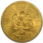 Mexico 1928 50 Peso Gold Coin MS-63+ PCGS