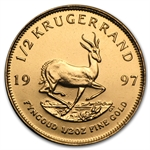 1997 1/2 oz Gold South African Krugerrand BU