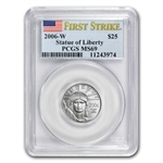 2006-W 1/4 oz Burnished Platinum Eagle MS-69 PCGS (FS)