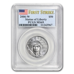 2006-W 1/2 oz Burnished Platinum Eagle MS-69 PCGS (FS)