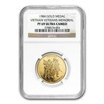 1984 1/2 oz Gold Vietnam Veterans Memorial (PF-69 UCAM NGC)