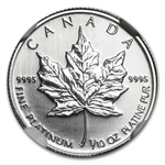 1997 1/10 oz Canadian Platinum Maple Leaf (MS-69 NGC)