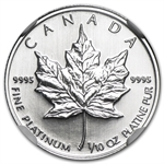 1997 1/10 oz Canadian Platinum Maple Leaf (MS-68 NGC)