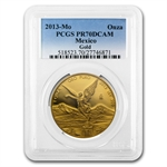 2013 1 oz Gold Mexican Libertad PR-70 DCAM PCGS Registry Set