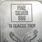 10 oz Commodity Exchange Silver Bar .999 Fine