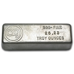 25.23 oz AG Silver Bar .999 Fine